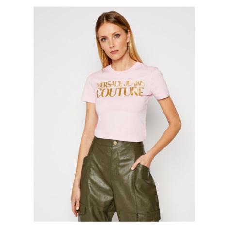 Versace Jeans Couture T-Shirt B2HWA7TB Różowy Slim Fit