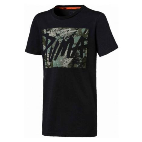 Puma STYLE GRAPHIC TEE B czarny 128 - Koszulka chłopięca