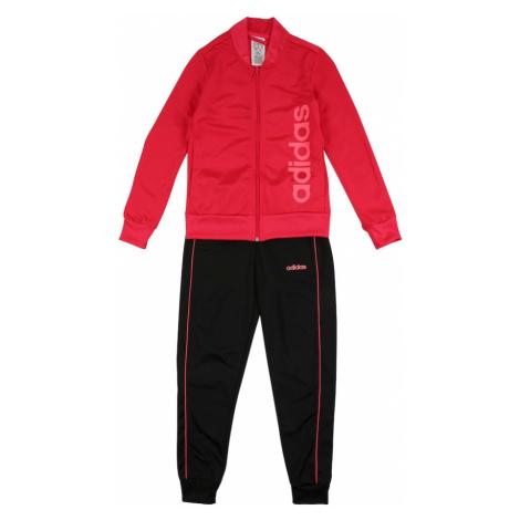 ADIDAS PERFORMANCE Strój treningowy 'YG PES TS' czarny / różowy / jasnoczerwony