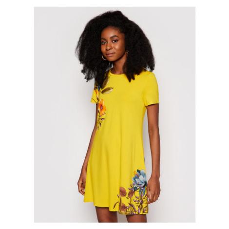 Desigual Sukienka codzienna Vegas 21SWVKAG Żółty regular_fit