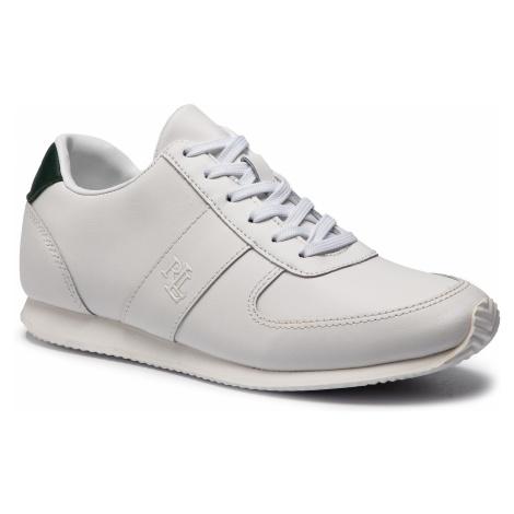 Sneakersy LAUREN RALPH LAUREN - Cate 802742376001 Wht/Lrngrn