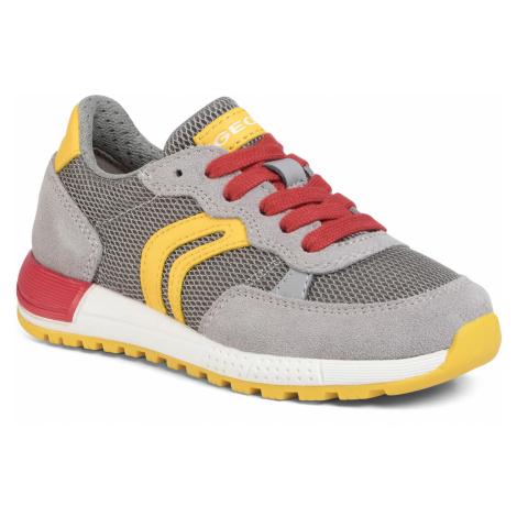 Sneakersy GEOX - J Alben B. D J949ED 01422 C0030 M Grey/Yellow