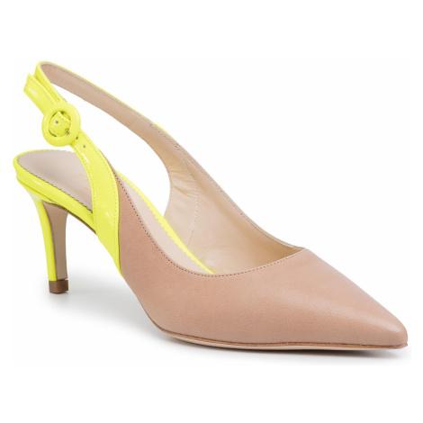 Sandały TWINSET - Decollete' 201TCP010 Bic.Desert/Gial 04827