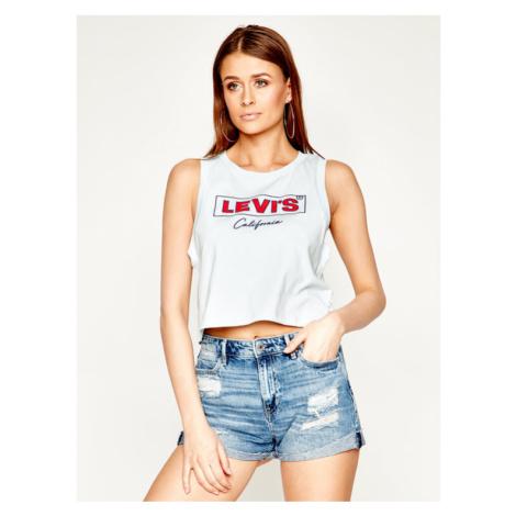 Levi's® T-Shirt Graphic Crop Tank 39810-0027 Niebieski Regular Fit Levi´s