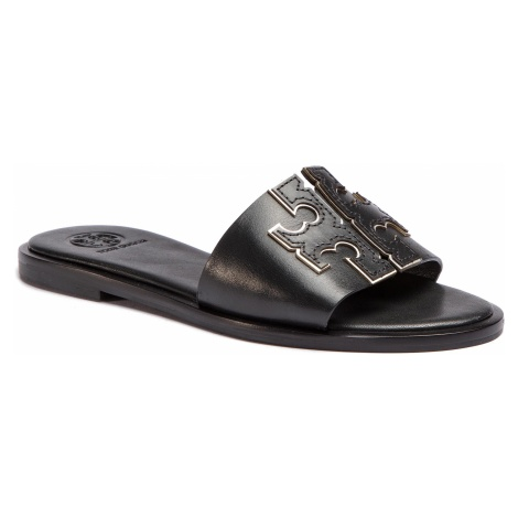 Klapki TORY BURCH - Ines Slide 50109 Perfect Black/Silver 043