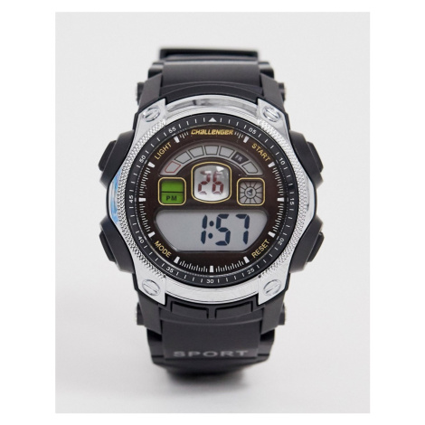 Challenger mens fitness watch in black