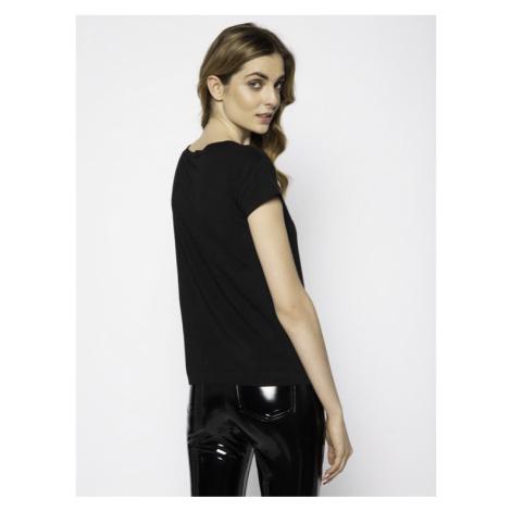 LOVE MOSCHINO T-Shirt W4F301RE 1698 Czarny Regular Fit