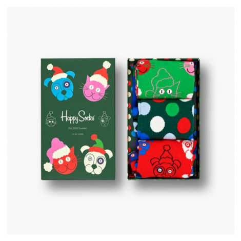 Skarpetki Happy Socks Giftbox Santa Animals 3-pak SXCAT08 7500