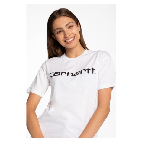 Koszulka Carhartt Wip W' S/s Script T-Shirt I028442-290 White
