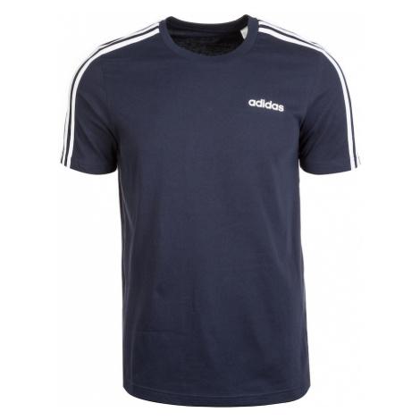ADIDAS PERFORMANCE Koszulka funkcyjna 'Essentials 3 Stripes' ciemny niebieski / biały