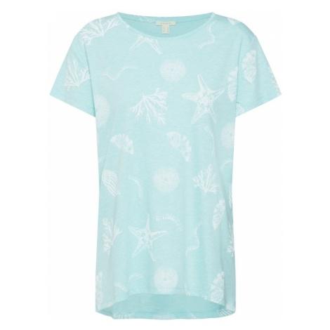 ESPRIT Koszulka 'Washed Sea AW T' miętowy / biały
