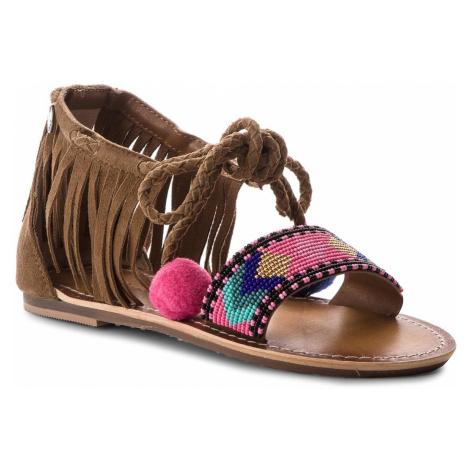 Sandały PEPE JEANS - Maya Fringes PGS90102 Mud 865