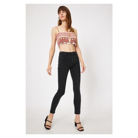 Koton Women's Gray Carmen Jeans