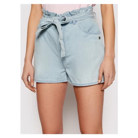 Roxy Szorty jeansowe Salento Playa ERJDS03221 Niebieski Loose Fit