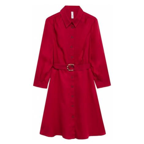 MANGO Sukienka koszulowa 'Cros' rubinowo-czerwony