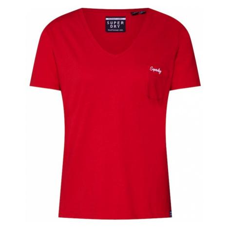 Superdry Koszulka czerwony