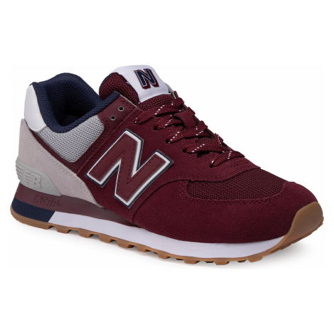 Sneakersy NEW BALANCE - ML574GRD Bordowy