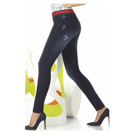 Damskie legginsy z dżinsowym wzorem Maddie Bas Bleu