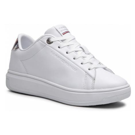 Tommy Hilfiger Sneakersy Monogram Leather Cupsole FW0FW05552 Biały
