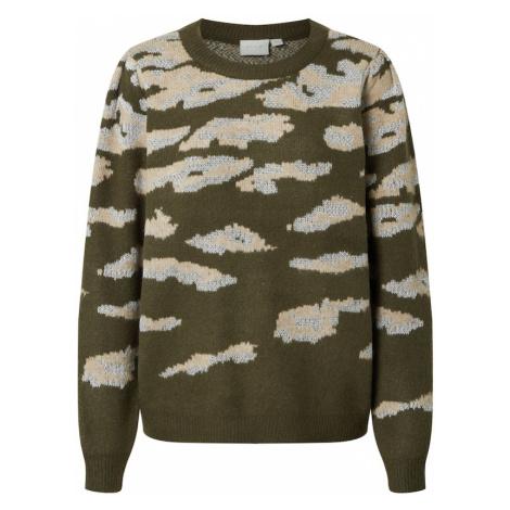 VILA Sweter 'VILIDSI' zielony / ciemnozielony