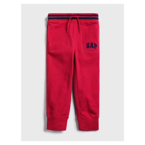 GAP czerwone dziecięce spodnie dresowe Logo ft arch jogger