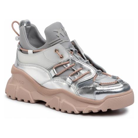 Sneakersy PINKO - Cumino 2 PE 20 BLKS1 1H20QR Y62U Argento/Ro IN6