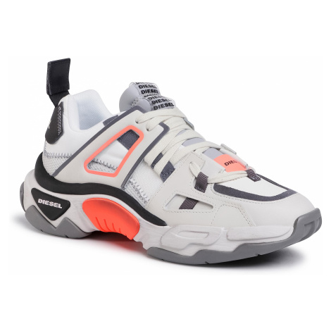 Sneakersy DIESEL - S-Kipper Low Trek II Y02352 P3400 H8156 Star White/Black/Flu