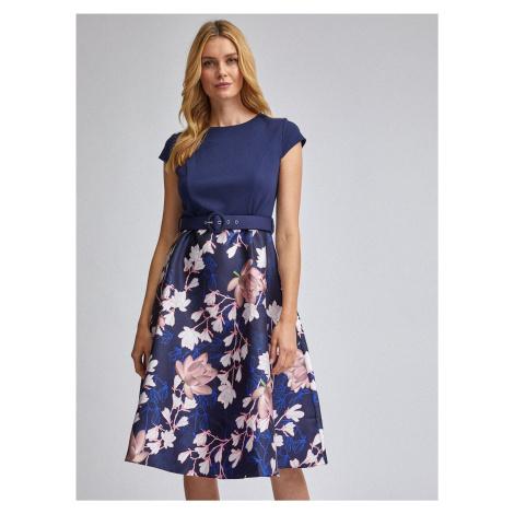 Granatowa sukienka w kwiaty Dorothy Perkins