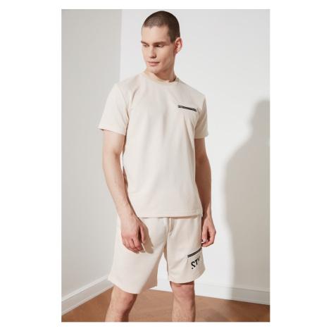 Modyol Beżowy dres męski Trendyol