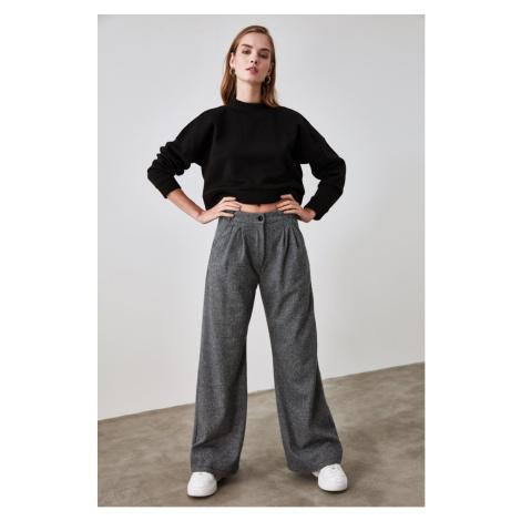 Trendyol Black Baggy Hem knitted Trousers