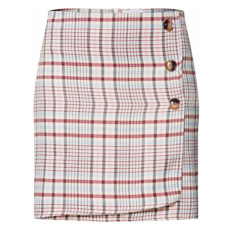 VILA Spódnica 'ALMA' jasnoniebieski / czerwony / biały