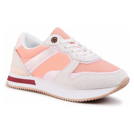 Sneakersy TOMMY HILFIGER - Feminine Active City Sneaker FW0FW04696 Insland Coral SN7