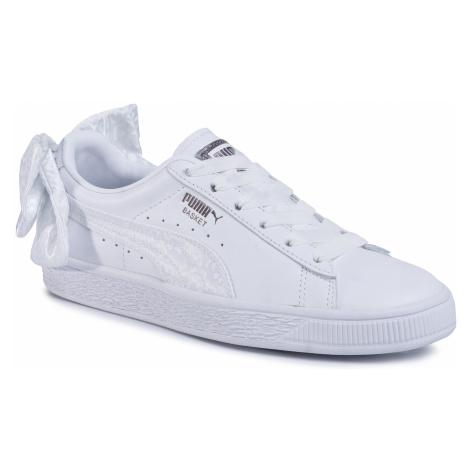 Sneakersy PUMA - Basket Bow Animal Wn's 367828 01 Puma White/Puma Aged Silver