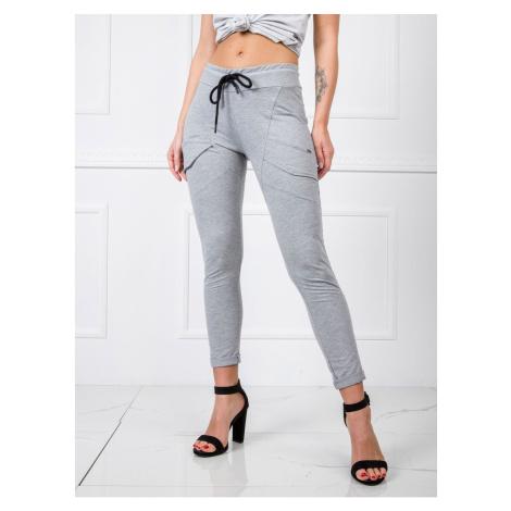 Spodnie z szarej bawełny