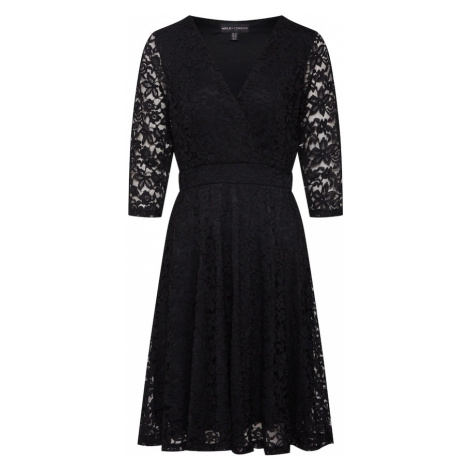 Mela London Sukienka koktajlowa 'DELICATE LACE LONG SLEEVE DRESS' czarny
