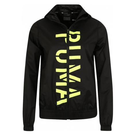 PUMA Kurtka treningowa 'Be Bold Graphic Woven Jacket' limonka / czarny