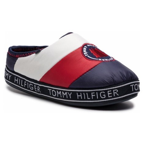 Kapcie TOMMY HILFIGER - Downslipper Patch FW0FW04182 Rwb 020