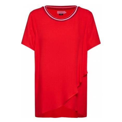 SOAKED IN LUXURY Koszulka 'Kristy' wiśniowo-czerwony