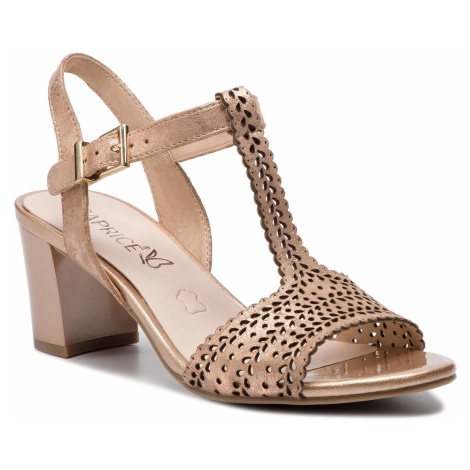 Sandały CAPRICE - 9-28301-22 Rosegold Shiny 980