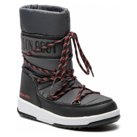 Śniegowce MOON BOOT - Sport Jr Wp 34051300005 Black/Castlero