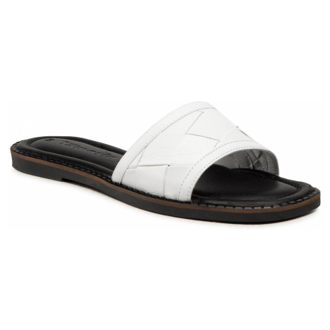 Klapki TAMARIS - 1-27125-26 White/Black 125