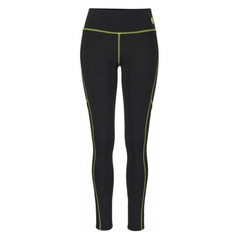 LASCANA ACTIVE Spodnie sportowe czarny / neonowo-żółty