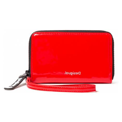 Desigual czerwony portfel Mone Forever Young Mini Zip