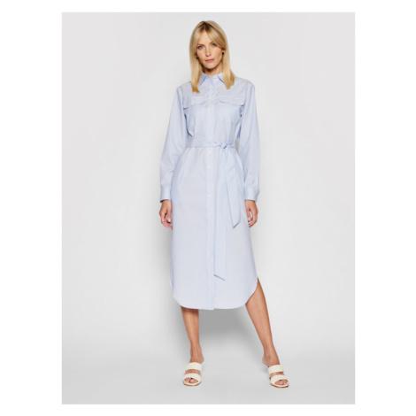 Lauren Ralph Lauren Sukienka koszulowa 200831977001 Niebieski Regular Fit