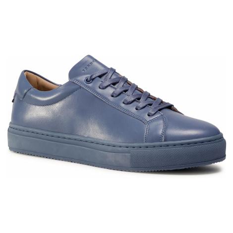 Sneakersy TOMMY HILFIGER - Premium Cupsole Leather FM0FM02858 Grew Dusk PO7