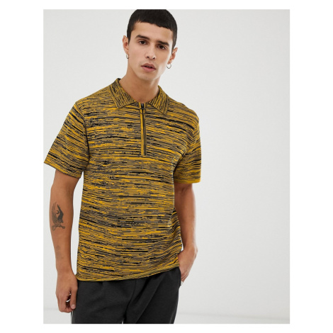 Tiger of Sweden Jeans knitted polo in yellow