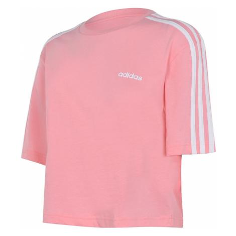 Adidas 3S Crop T Shirt Damski
