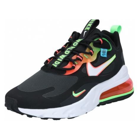 Nike Sportswear Trampki niskie 'Air Max 270' czarny / biały / koralowy / neonowa zieleń