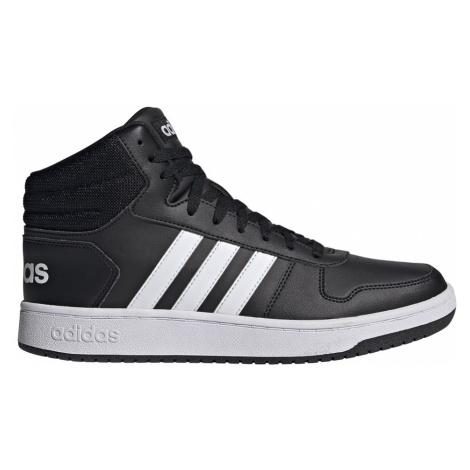 Adidas Hoops 2.0 Mid Męskie Czarno-Białe (FY8618)