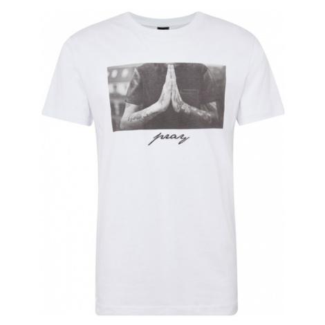 Mister Tee Koszulka 'Pray' szary / biały